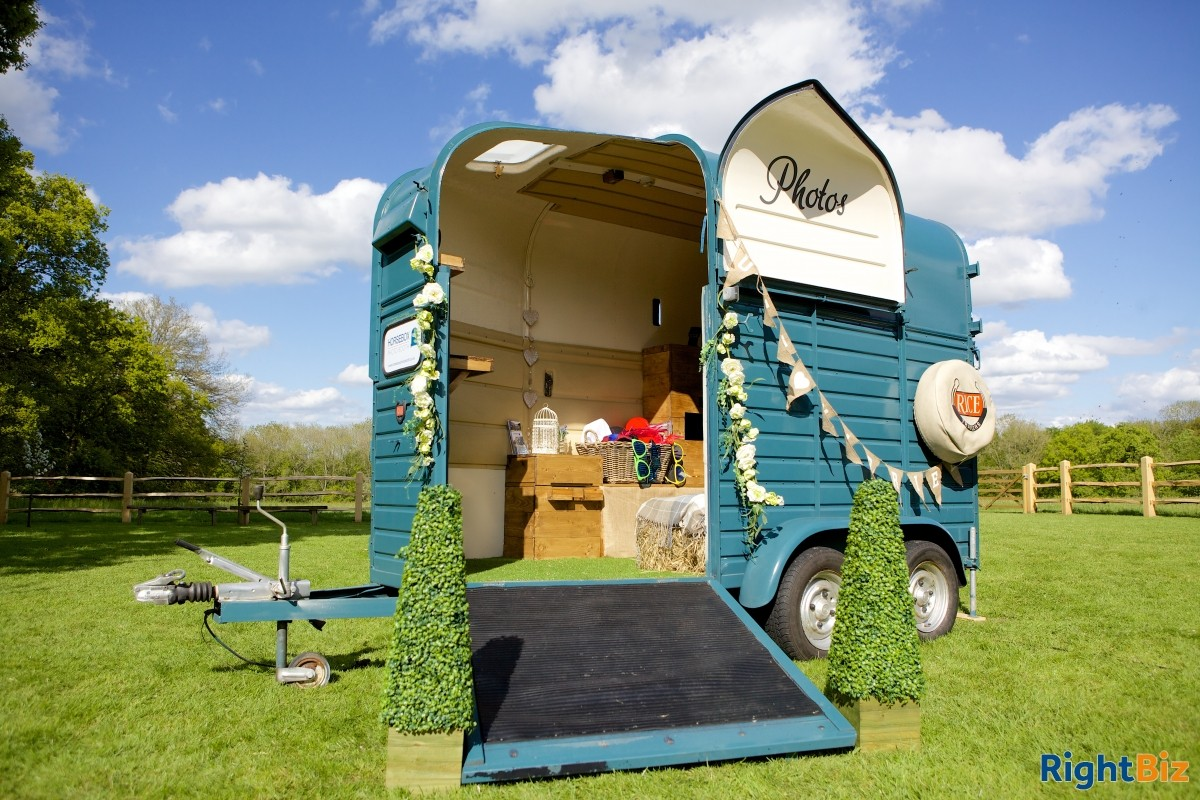The original horsebox photobooth and caravan photobooth thriving business with ongoing bookings - Image 1