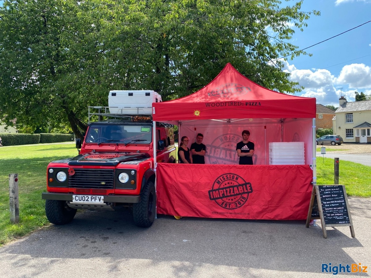 Land Rover Wood Fired Pizza Business, quirky and attractive with prospects - Image 1