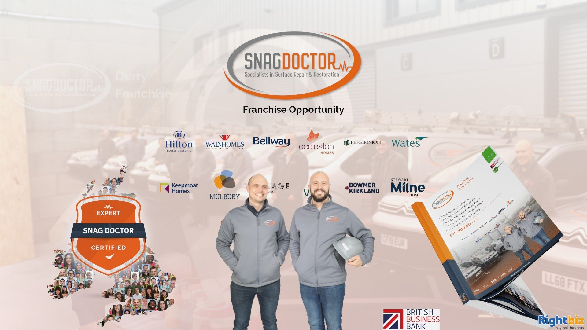 Snag Doctor 100% Govt Funded Franchise in Derry With Huge Demand from Major House Builders - Image 1