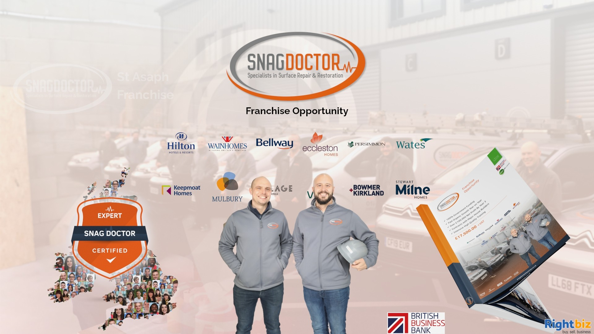 Snag Doctor 100% Govt Funded Franchise in Saint Asaph With Huge Demand from Major House Builders - Image 1