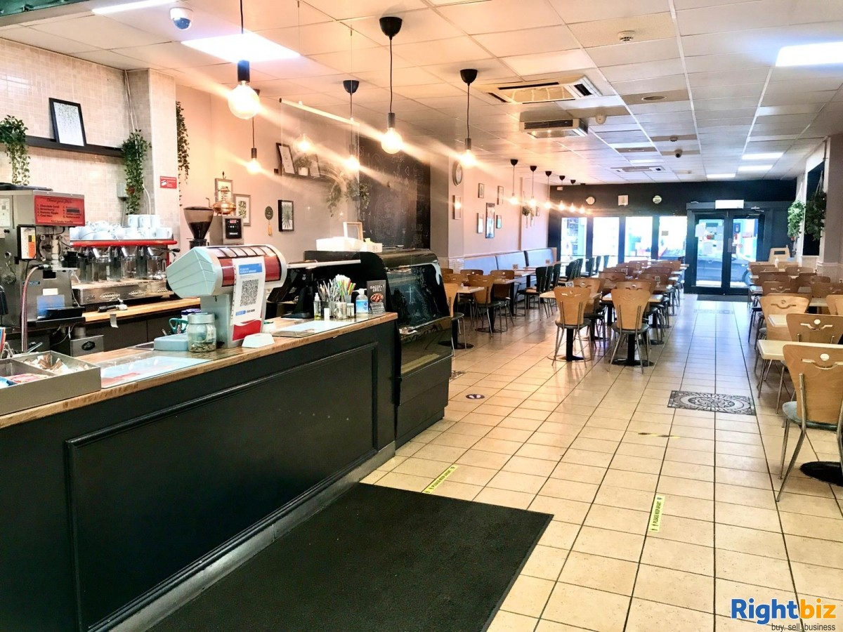 Busy Cafe/Restaurant for sale (120 seats), located on high street, with a large 2 bedroom flat - Image 1