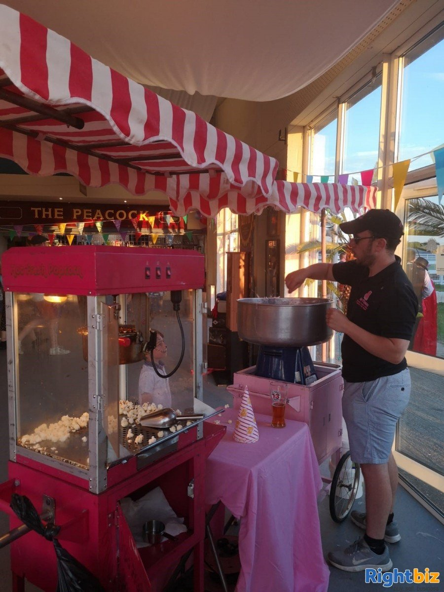 Popcorn and Candy Floss Machine Hire Business. Ideal 2nd Income Lifestyle Business - Image 1