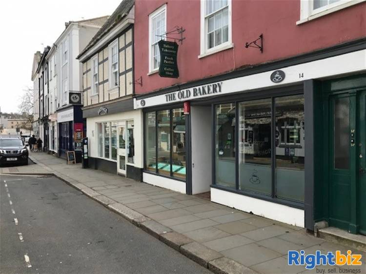 South Hams High Street Café and Bakery Premises For Sale in Totnes - Image 1