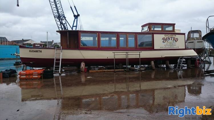 Closed Cafe In Converted Heritage Foot Ferry Boat - Image 1