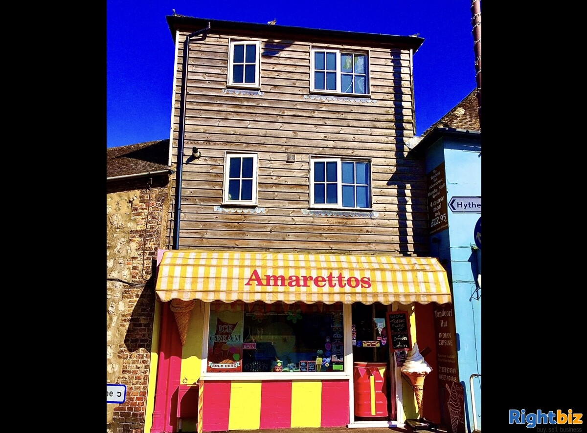 FREEHOLD ICE CREAM SHOP WITH 1 BED ACCOMMODATION FOR SALE DYMCHURCH KENT SOUTH COAST - Image 1