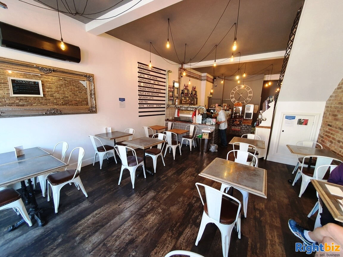 IMMACULATE TWO STOREY CAFÉ / BISTRO - A3 & ALCOHOL LICENCE - TURNOVER £5,000 PER WEEK - Image 1