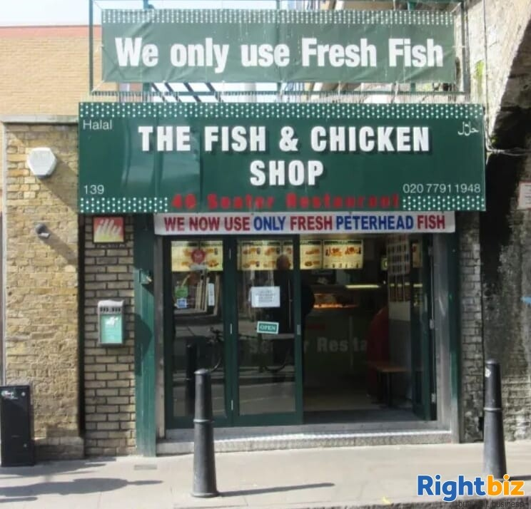 Busy & Established Fish, Chicken & Chips Shop for Sale - Opposite Shadwell Station - Image 1