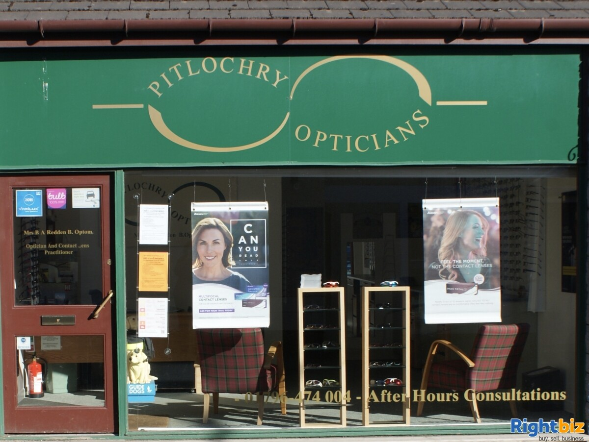 Optometry practice for sale in Pitlochry, Perthshire. Established for 23 years. - Image 1