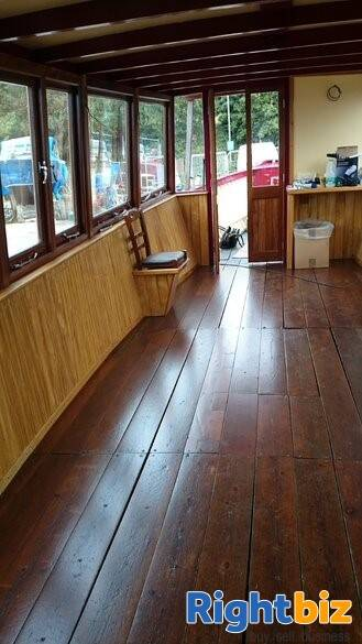 Closed Cafe In Converted Heritage Foot Ferry Boat - Image 2