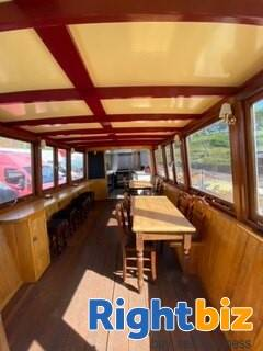 Closed Cafe In Converted Heritage Foot Ferry Boat - Image 3